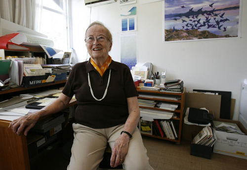 Francisco Kjolseth | The Salt Lake Tribune Utah artist Anna Bliss, pictured here in her home office in 2009, is the subject of a new documentary,