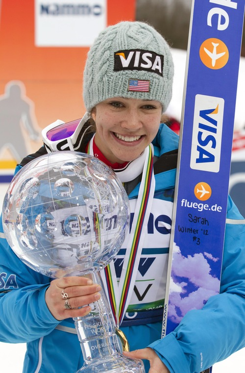 Sarah Hendrickson is one of five members of the U.S. Women's Ski Jumping Team being honored at an Olympic Day celebration Sunday at the Utah Winter Sports Park near Park City.  (AP file photo/Scanpix Norway/Terje Bendiksby)