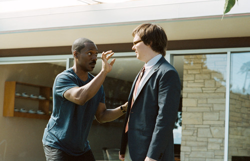 In this film image released by Paramount Pictures, Eddie Murphy, left, and Clark Duke are shown in a scene from