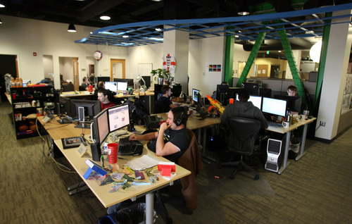 Steve Griffin  |  The Salt Lake Tribune Electronic Arts, a multinational digital game developer, moved into its state-of-the-art Salt Lake City studio from another Utah location in 2010. Its website lauds Utah's two professional sports teams and world-class ski resorts.