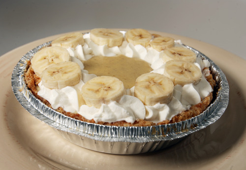 Kim Raff | The Salt Lake Tribune   Mini's Bakery in Salt Lake City, known for its small retro-style cupcakes, is introducing a line of small pies, including banana cream pie.