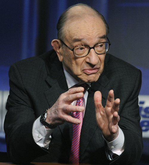 In this photo provided by ABC, former Federal Reserve Chairman Alan Greenspan is interviewed on ABC's This Week in Washington Sunday, April 4, 2010.  (AP Photo/ABC, This Week)