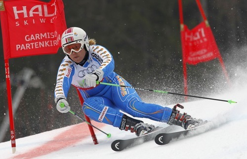 Alessandro Trovati | The Associated Press  Sweden's Anja Paerson competes during the Nations Team event at the Alpine World Skiing Championships in Garmisch-Partenkirchen, Germany, Wednesday, Feb. 16, 2011.
