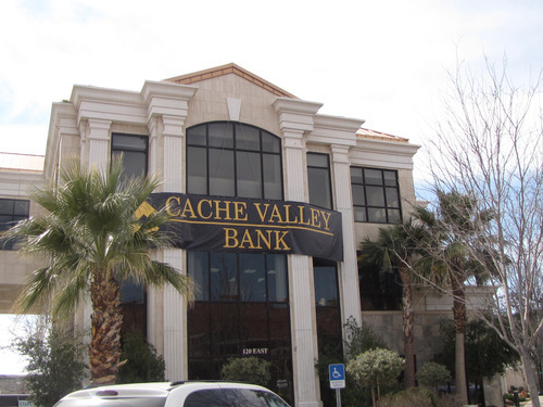 Mark Havnes  | The Salt Lake Tribune Cache Valley Bank at 120 E. St. George Blvd., which used to be SunFirst Bank.