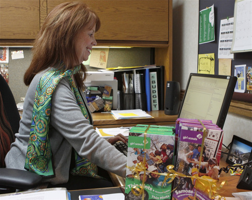Courtesy of Annie Cutler Cathleen Sparrow, CEO of the Girl Scouts of Utah, is working to increase the group's membership.