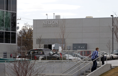Al Hartmann  |  The Salt Lake Tribune  Nelson Laboratories has purchased a building next door to its existing facilities for its future expansion.