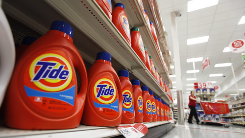 (AP Photo/Steve Helber) The market-leading detergent usually can command a premium price at the checkout counter, up to $20 for a big 150-ounce bottle. But sold under the table, in an alley or a back room, it can go for a mere $5 or $10.