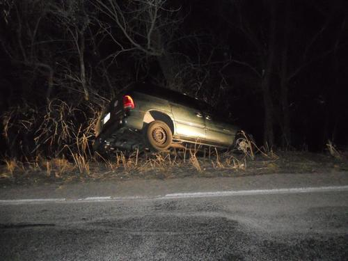 An 8-year-old drove a van off the roadway towards the Ogden River around 2 a.m. Thursday, March 15. The van was stopped by trees lining the river's edge and no one was hurt. The driver reported he was taking his 5-year-old sister to the store. Courtesy Ogden Police Department