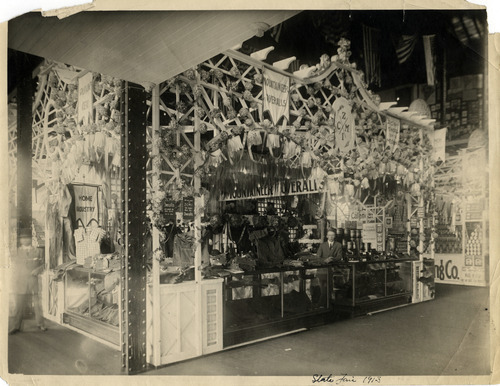 Tribune file photo  ZCMI's display at the 1913 Utah State Fair.
