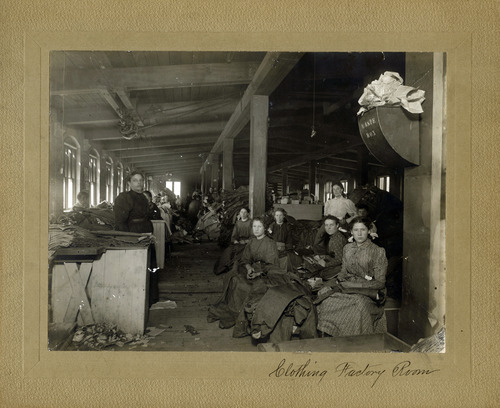 Tribune file photo  Office staff are seen at the ZCMI factory in this photo from August 1899.