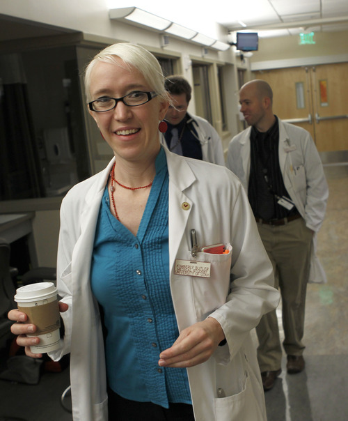 Al Hartmann  |  The Salt Lake Tribune Kimberly Butler spent her last week in medical school doing rounds in University Hospital's neurology department. She is among a growing number nationally choosing primary care fields.