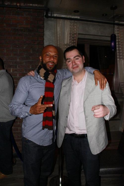 Rapper Common poses with Konstantine Deslis on March 16, 2012, at nightclub One in Salt Lake City. It was Common's 40th birthday party. Photo courtesy Deslis.
