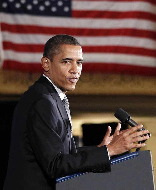 President Barack Obama speaks during a 'Lawyers for Obama Luncheon' fundraiser, Friday, March, 16, 2012, at the Palmer House Hotel in Chicago.  (AP Photo/Pablo Martinez Monsivais)