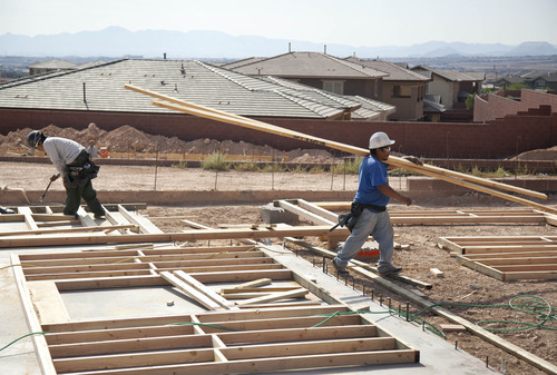 (AP Photo/Julie Jacobson) Construction of single-family homes nationally, which makes up roughly 70 percent of housing starts, dipped in February, to 457,000 after rising for four straight months to an 18-month high. A jump in volatile apartment construction offset the decline.