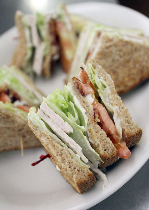 Francisco Kjolseth  |  The Salt Lake Tribune A club sandwich made with house-roasted turkey at Lamb's Grill.