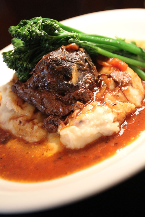 Francisco Kjolseth     The Salt Lake Tribune Lamb's new owner and chef have kept many of its well-known dishes, including the beef bourguignon with greens and mashed potatoes.
