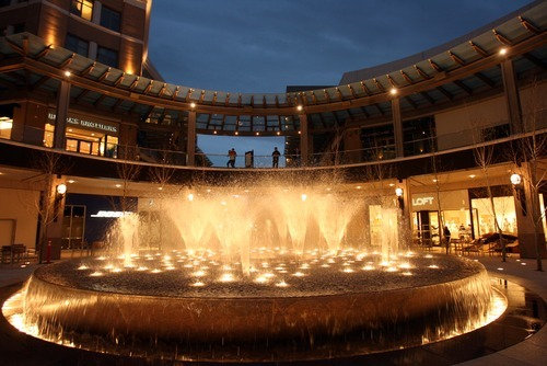 Kim Raff | The Salt Lake Tribune The Transcend Fountain is tested at City Creek Center in Salt Lake City, Utah on March 16, 2012.