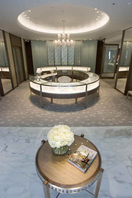 Paul Fraughton | The Salt Lake Tribune The main sales area  at the new Tiffany store opening in City Creek Center.