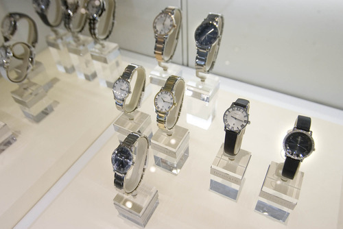 Paul Fraughton | The Salt Lake Tribune Watches on  display at the new Tiffany store opening in City Creek Center.