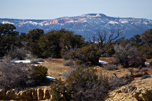 Chris Detrick     The Salt Lake Tribune The view from Rock Springs Point along the west edge of the Grand Staircase-Escalante National Monument on Saturday, Feb. 18, 2012.