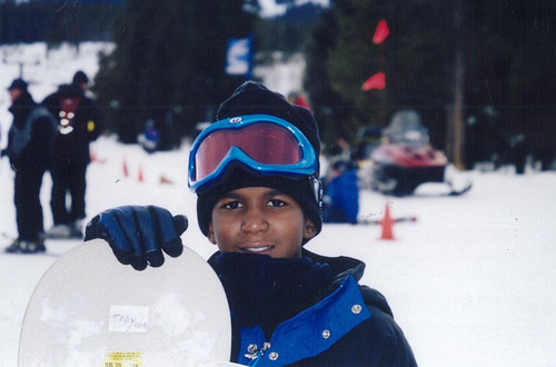 In this undated photo provided by the Martin family, shows Trayvon Martin snowboarding. Martin, 17 of Miami Springs, Fla., was killed by a neighborhood watchman following an altercation in Sanford, Fla. as he walked from a convenience store in February, 2012. (AP Photo/Martin Family)