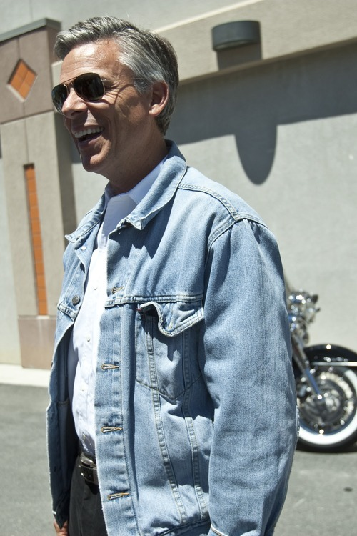 Chris Detrick | Tribune file photo Former presidential candidate Jon Huntsman is ruling out a third-party run for the White House or U.S. Senate. In this file photo, Huntsman arrives at Harley-Davidson of Salt Lake bike shop last summer.