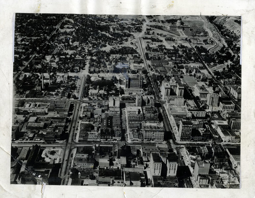Tribune file photo  An aerial view of downtown Salt Lake City in 1933.