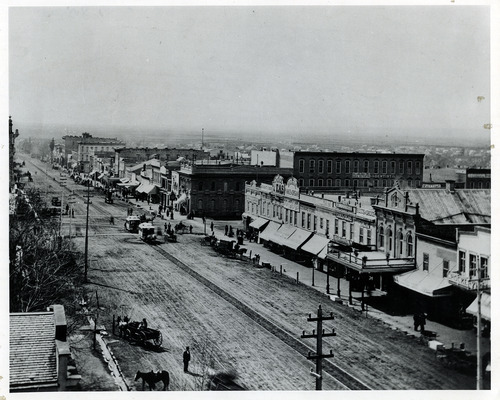 Tribune file photo  This undated photo photo shows a view of Main Street in Salt Lake City.