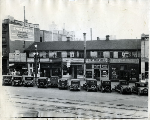 Tribune file photo  Cars line up outside businesses on 200 South between Main and West Temple in Salt Lake City in this photo from 1927.
