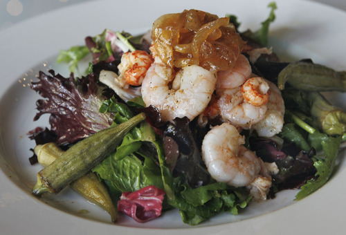 Al Hartmann  |  The Salt Lake Tribune Soul & Bones' Cajun shrimp and crawfish salad ($10).