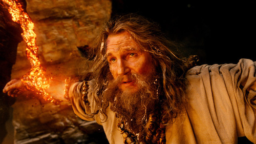 In this film image released by Warner Bros., Liam Neeson portrays Zeus in a scene from