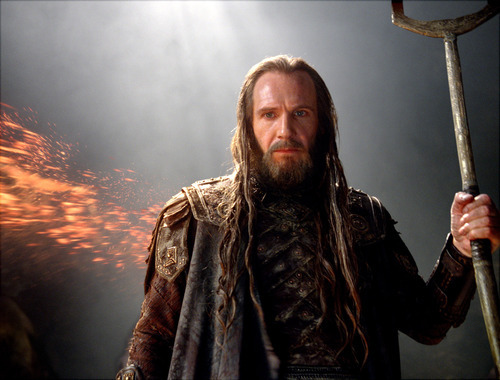 In this film image released by Warner Bros., Ralph Fiennes portrays Hades  in a scene from
