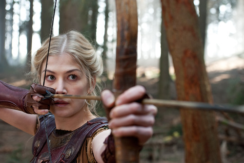 In this film image released by Warner Bros., Rosamund Pike portrays Andromeda in a scene from