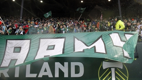 Portland Timbers fans, known as the