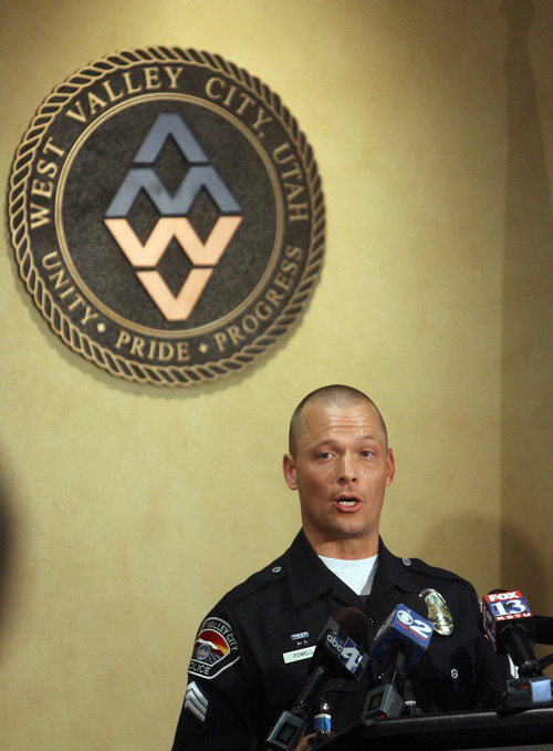 Kim Raff | The Salt Lake Tribune WVCPD Mike Powell speaks during a press conference to discuss the Susan Powell case at West Valley City Hall in West Valley City, Utah on March 30, 2012.