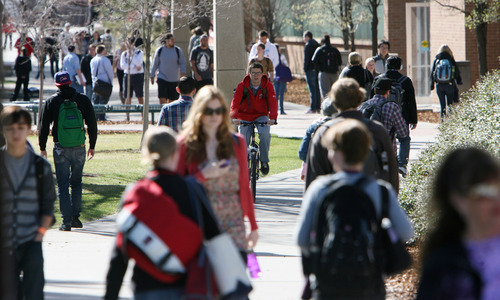 Steve Griffin  |  The Salt Lake Tribune University of Utah students will pay annual tuition of more than $6,000 under increases approved by the State Board of Regents on Friday.