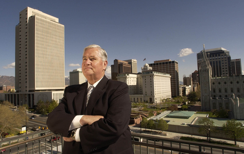 H. David Burton, the LDS Church's newly released presiding bishop, helped reshape Salt Lake City's downtown.     Francisco Kjolseth/The Salt Lake Tribune      05/02/2002