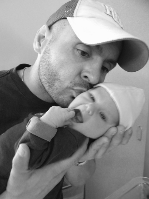 Rob Manzanares, shown here with his son, is still entangled in a custody fight for a daughter born to a former girlfriend and placed for adoption in Utah. Courtesy of Robert Manzanares