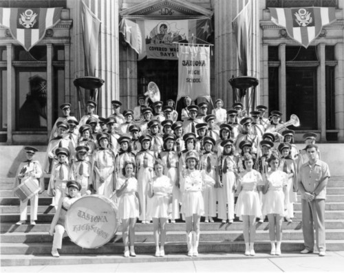 Photo courtesy Utah State Historical Society  Tabiona High School Band, July 24, 1940.