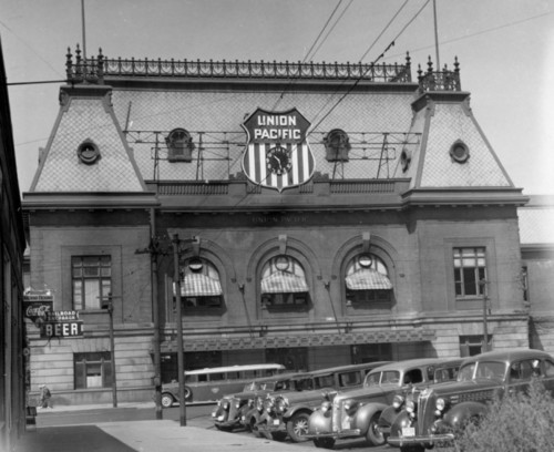 Photo courtesy Utah State Historical Society  Union Pacific Railroad Station in Salt Lake, August 4th, 1940.