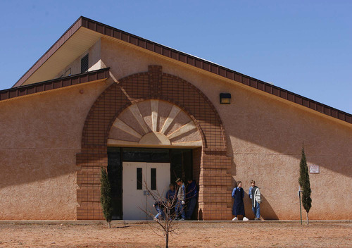 Children at an FLDS private school in Colorado City in 2006, believed to be named the Fred Jessop School. Former members say sect members later moved from