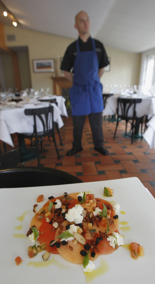 Al Hartmann  |  The Salt Lake Tribune Chef Logen Crew of Fresco Italian Cafe prepares