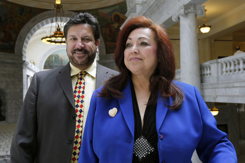 Al Hartmann  |  Tribune file photo Josie Valdez and state Rep. Mark Archuleta Wheatley, D-Murray, could become the state's first husband-wife in the Utah Legislature. Valdez is running for State Senate District 8.