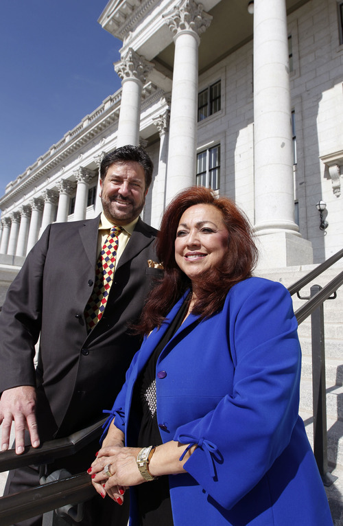 Al Hartmann  |  Tribune file photo Josie Valdez is running for the state Senate. If she wins, and Rep. Mark Wheatley, D-Murray, is re-elected the two would become the first husband-wife team in the Utah Legislature.