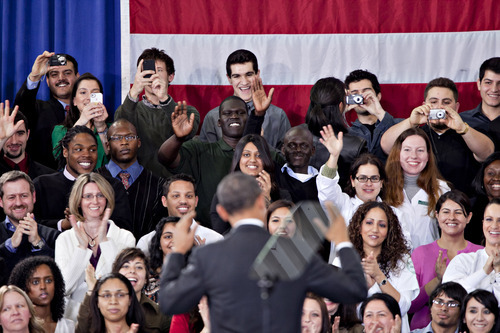 Andrew Harrer     Bloomberg News President Barack Obama has offered a raft of proposals aimed at fine-tuning the system and making repayments easier. Yet the predicament of debt-burdened former students has failed to generate much notice in the GOP presidential campaign. Instead, the candidates are dismissive of government student loan programs in general and Obama's proposals in particular.