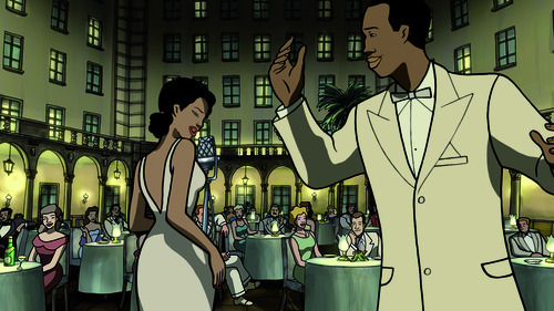|  GKIDS Rita sings while Chico leads the orchestra in a Cuban nightclub, in a scene from the for-adults-only animated romance
