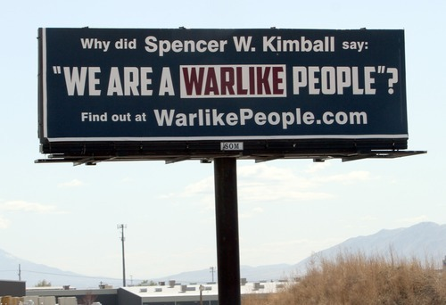 Rick Egan  | The Salt Lake Tribune   Billboard on I-15, near 800 North Exit in Orem, Monday, April 2, 2012.