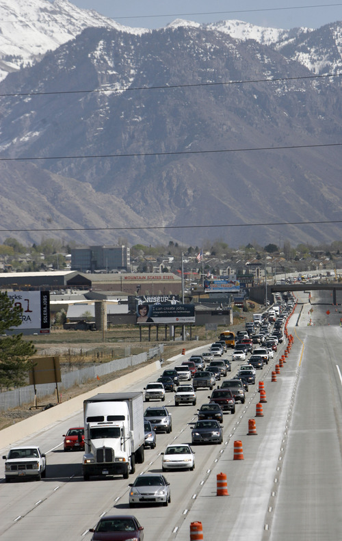 Francisco Kjolseth     The Salt Lake Tribune Rapid growth in Utah County has contributed to the expansion and upgrade along the I-15 corridor.