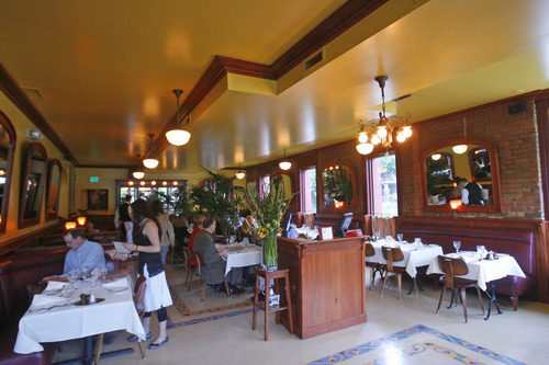 Tribune file photo Several Wasatch Front restaurants, including Paris Bistro in Salt Lake City, have planned large spreads that include all-you-can eat carved meats, seafood, salads, egg dishes and -- of course -- desserts on Sunday, April 8.