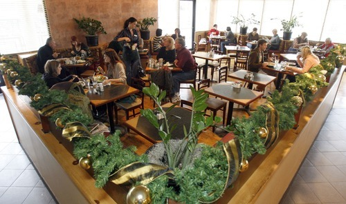 Tribune file photo Several Wasatch Front restaurants, including Red Butte Cafe in Salt Lake City, have planned large spreads that include all-you-can eat carved meats, seafood, salads, egg dishes and -- of course -- desserts on Sunday, April 8.